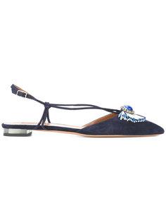 туфли без задника с фактурной отделкой Aquazzura