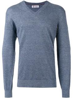 пуловер с V-образным вырезом Brunello Cucinelli