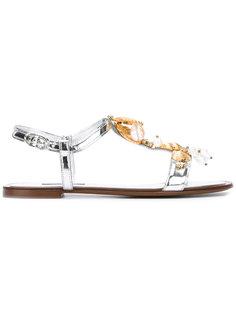 сандалии с отделкой ракушками Dolce & Gabbana