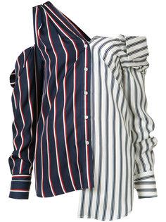 полосатая блузка с открытыми плечами Monse