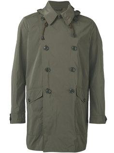 двубортное пальто в стиле милитари  Aspesi