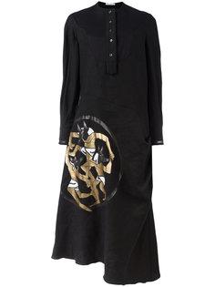 платье-рубашка с принтом Anubis J.W.Anderson
