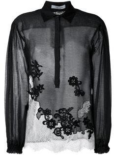 блузка с кружевной отделкой Blumarine