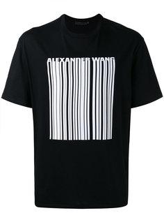 футболка с принтом штрих-кода Alexander Wang