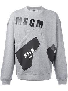 printed sweatshirt MSGM
