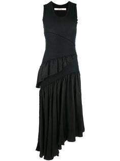 платье с рюшами без рукавов Damir Doma