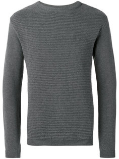 ripple stitch crew neck jumper Oliver Spencer