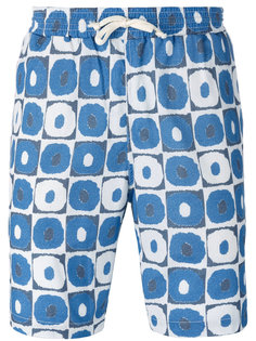 geometric print beach shorts Universal Works
