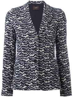 трикотажный приталенный пиджак  Odeeh