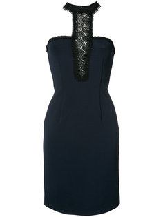 lace inset fitted dress Yigal Azrouel