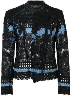 embroidered biker jacket Yigal Azrouel