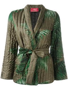 пиджак-кимоно с принтом листьев пальмы F.R.S For Restless Sleepers