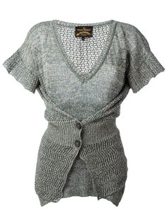 layered buttoned knitted blouse Vivienne Westwood Anglomania