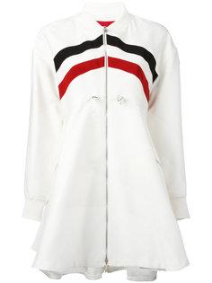 расклешенное пальто в полоску Moncler Gamme Rouge