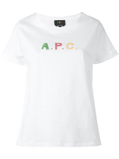 logo print T-shirt  A.P.C.