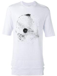 футболка с принтом диско шара Helmut Lang