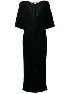 длинное платье с V-образным вырезом Stella McCartney