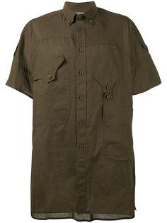 рубашка с асимметричными карманами Yohji Yamamoto