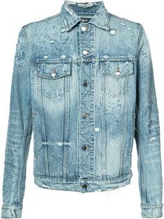 выбеленная джинсовая куртка Amiri