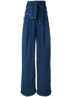 tied wide leg jeans Sara Battaglia