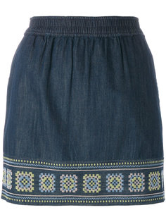 джинсовая юбка с вышивкой  Vanessa Bruno Athé