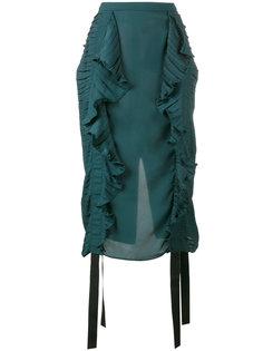 юбка-карандаш с рюшами Marco De Vincenzo