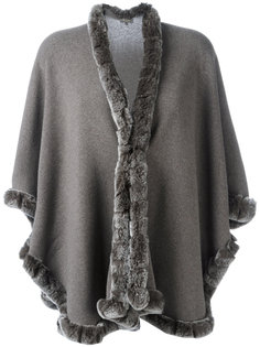 furry trim cardigan  N.Peal