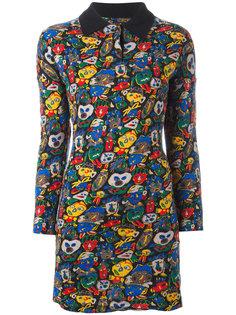 платье с воротником и рисунком в виде лиц Jean Paul Gaultier Vintage