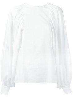 блузка с присборенными манжетами Céline