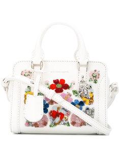 сумка-тоут с цветочной вышивкой Alexander McQueen