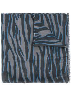шарф с зебровым узором Furla