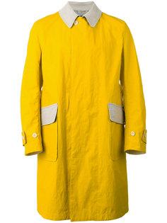 пальто с заплатками на рукавах Junya Watanabe Comme Des Garçons Man