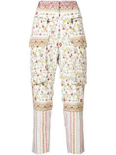 брюки с цветочным принтом Nº21