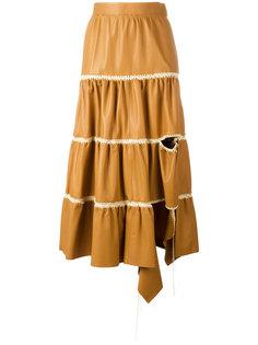 cut-out detail ruffled skirt Loewe