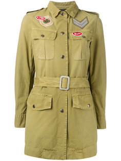 belted military style jacket Mr & Mrs Italy
