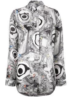 рубашка с мраморным принтом Acne Studios