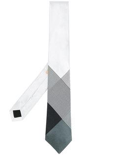 галстук с геометрическим рисунком Burberry