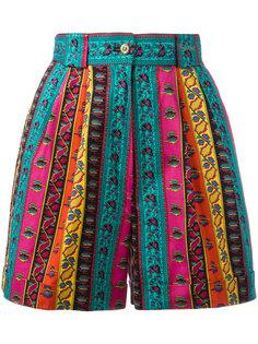 шорты в полоску геометрической формы Kenzo Vintage