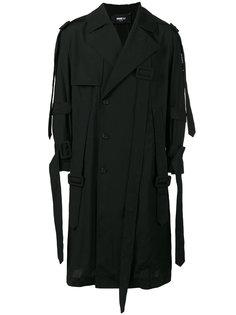 свободное пальто с асимметричной застежкой  Yang Li