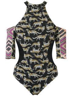 leopard print swimsuit Janiero