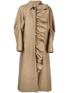 пальто с оборками  Irene