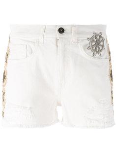 embellished denim shorts Mr & Mrs Italy