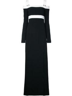 длинное платье с открытыми плечами  David Koma