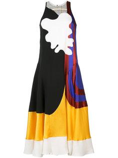 платье с абстрактным принтом Roksanda