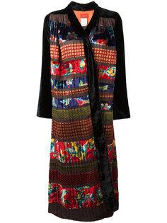 легкое длинное пальто в стиле пэчворк Kenzo Vintage