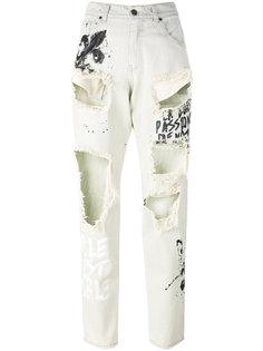 джинсы с рваной отделкой Gaelle Bonheur