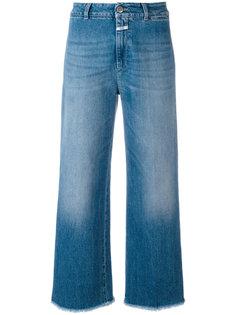 широкие джинсы с бахромой Closed