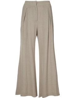 укороченные расклешенные брюки Dusan