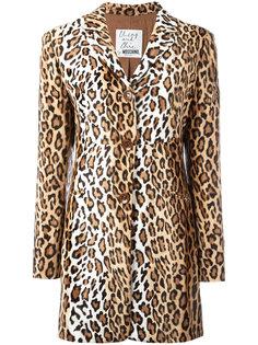 удлиненный пиджак Cheeta Vevetene Moschino Vintage