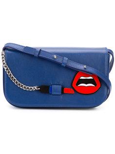 сумка через плечо с аппликацией губ Yazbukey